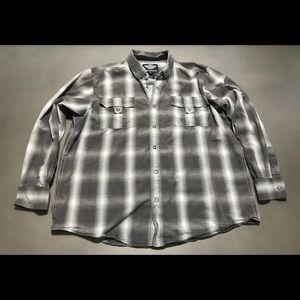 Men's Harley-Davidson Plaid Snap Up Shirt Size 2XL